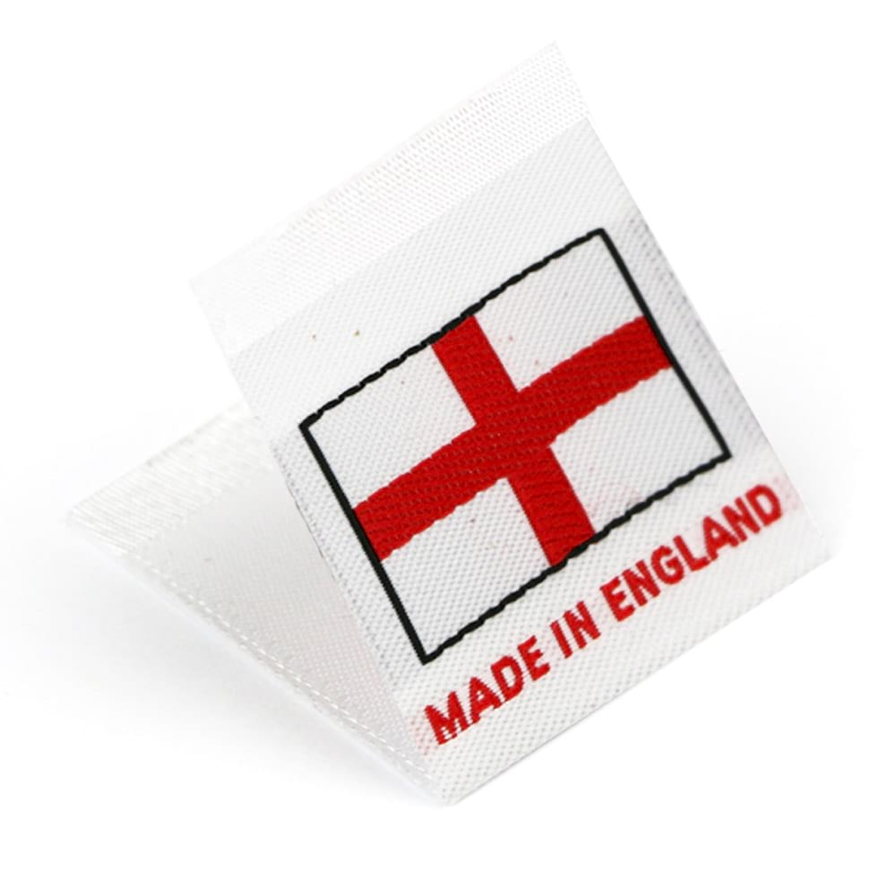 Woven 'Made in England' Flag Labels