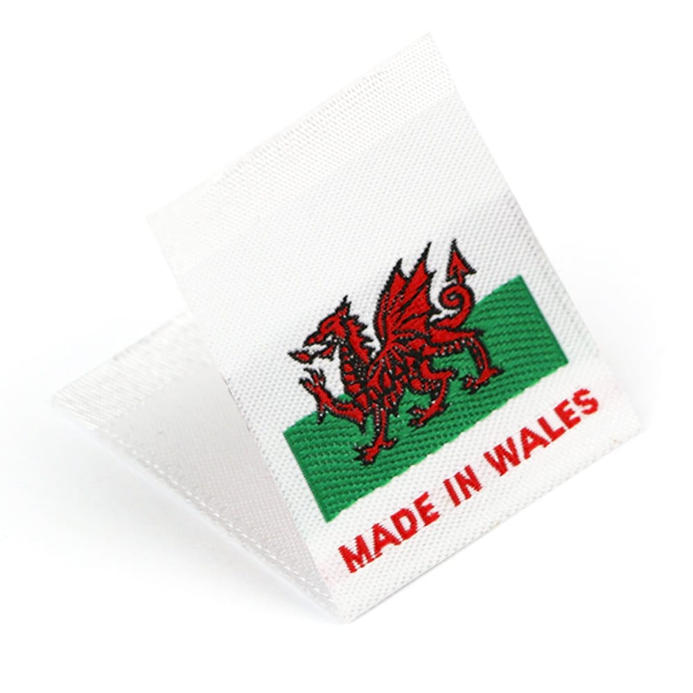 Woven 'Made in Wales' Flag Labels