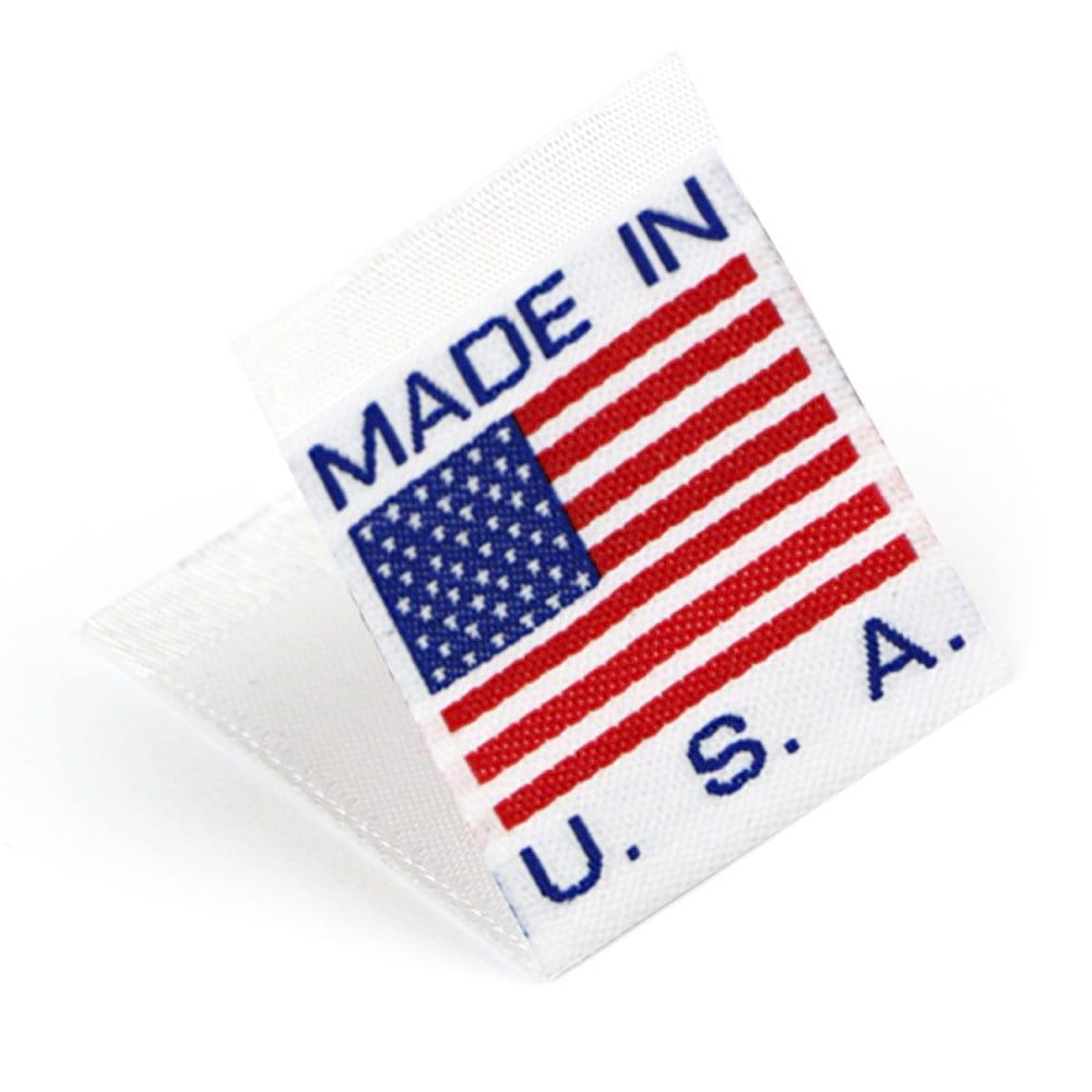 Woven 'Made in USA' Flag Labels