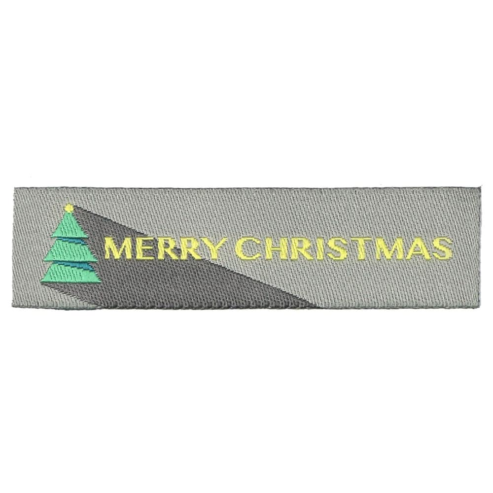 Christmas Woven Labels - Tree