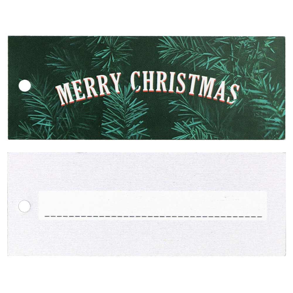 Christmas Hang Tags - Merry Christmas with Greenery